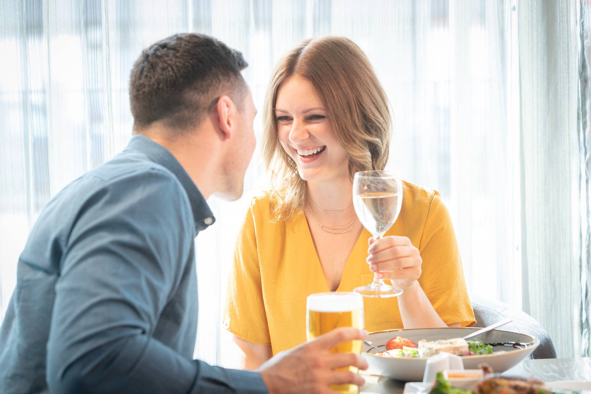 couple enjoying dinner Maldron Hotel restaurant