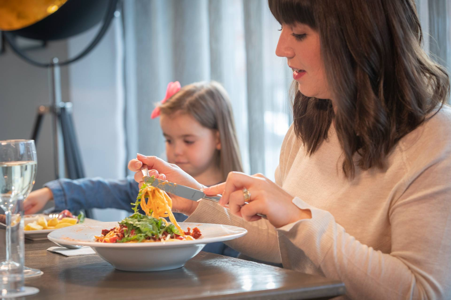 family dining in Maldron Hotels Grain and Grill restaurant