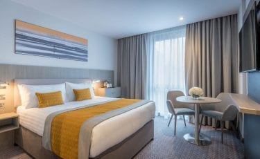 Luxurious King Koil double bed in Maldron Hotel Glasgow