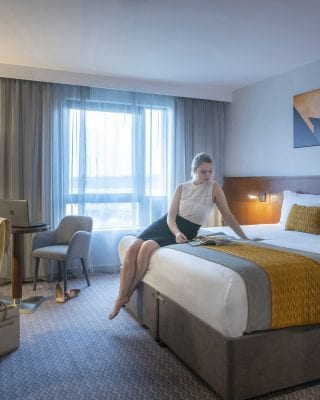 Large double bed Maldron Hotel Glasgow